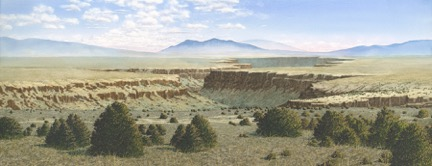 """Rio Grande Gorge"" by Lynn McLain (watercolor)."