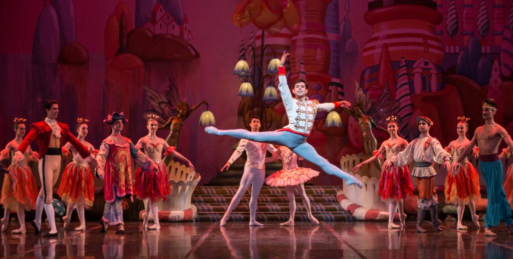 Francisco Estevez as the Nutcracker Prince and artists of the Colorado Ballet. Photo by Mike Watson.