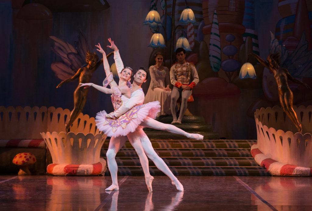 Maria Mosina as the Sugarplum Fairy with Alexei Tyukov the Cavalier. Photo by Mike Watson.