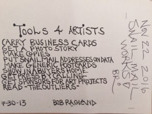 """Tools for Artists"" - Bob Ragland"