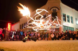 Fire Performers at Arts Crawl in Gallup, New Mexico