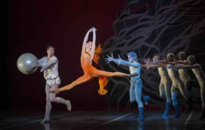 Maria Mosina, Alexei Tyukov, Francisco Estevez and Artists of Colorado Ballet in Firebird. Photo by Mike Watson