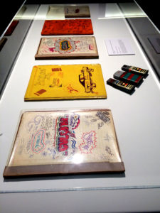 Collection of original graffiti artworks on display as part of Wall Writers.