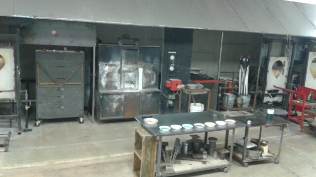 Industrial glass kitchen