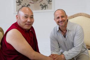 His Holiness Adzom Lama Jurmey Jamtso Rinpoche & Rafael Anteby - photo Michael Becker