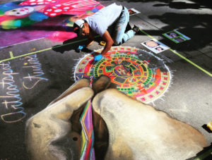Artist Randy Segura - Photo Courtesy of Denver Chalk Art