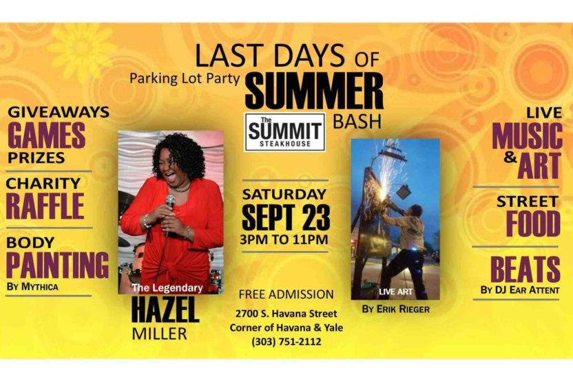 Last Days of Summer Bash – FREE event – Fun for the Entire Family