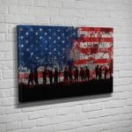 Patriotic Art By Flipside Canvas
