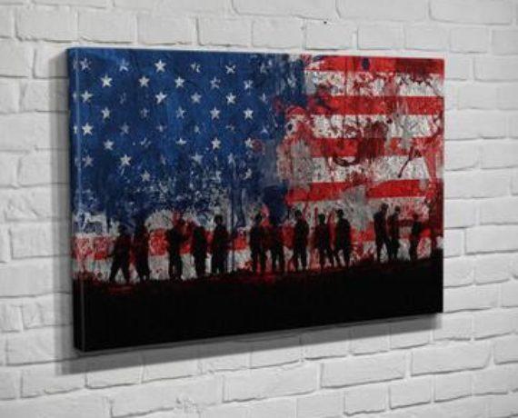 Patriotic Art By Flipside Canvas